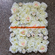 10pcs/lot  Artificial silk hydrangea and rose flower wall wedding background decoration lawn/pillar market decoration TONGFENG