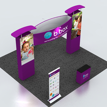 20ft Portable Custom Trade Show Display with Graphic Printing Pop Up Stand Booth Podium Lights(China)