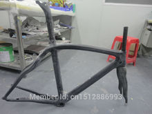 New OEM 700C Road bicycle 3K full carbon fibre frame workblank carbon bike frame with carbon fork+seatpost+seat clamp+headsets