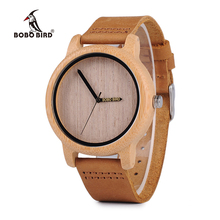 BOBO BIRD WA22 Womens Bamboo Wooden Watches Japan Quartz 2035 Quartz Watch Pointer Logo Laser Customized Item Dropshipping(China)