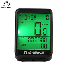 INBIKE Mountain bike cadence Computer Rainproof Bicycle Odometer Cycling Speedometer Multifunction Stopwatch Backlight Riding(China)