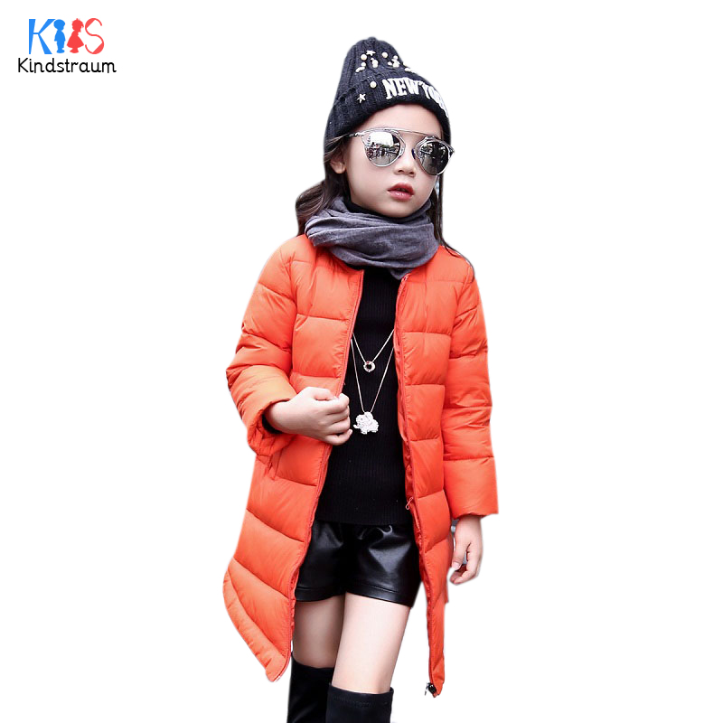 Kindstraum 2017 New Winter Girls Thick Down Coats Brand Children Solid Long Style Jacket Fashion Outerwear for Kids,RC794Одежда и ак�е��уары<br><br><br>Aliexpress