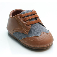 High Quality Ultra Soft PU Leather and Canvas Baby Boys Moccasins Boots Infant Pre Walker Shoes