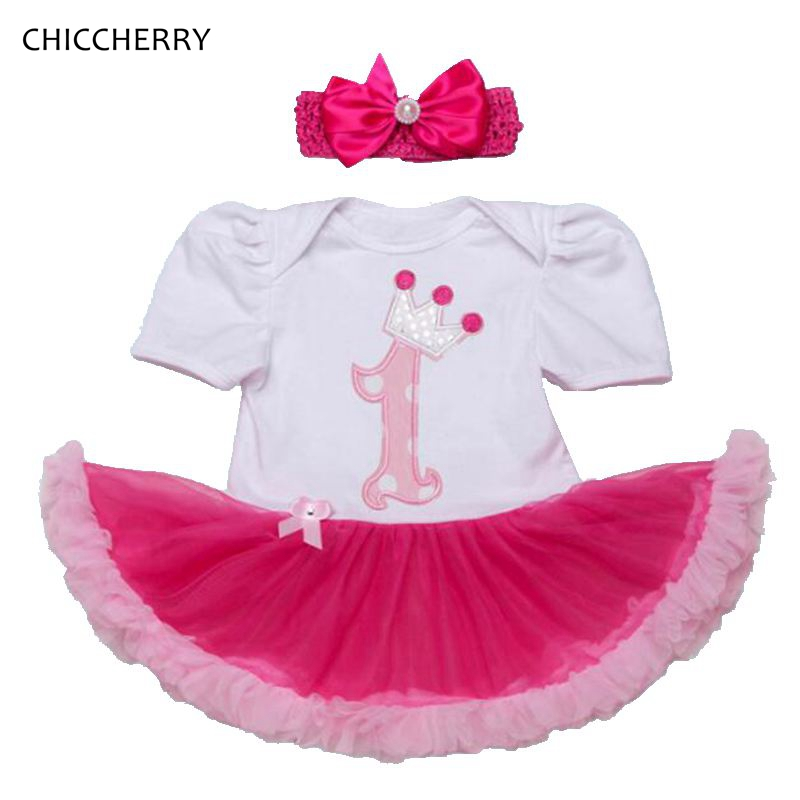 1 Year Girl Birthday Dress Crown Pricess Infant Lace Tutus Headband Set Toddler Party Outfits Vestidos Cotton Baby Girl Clothes <br><br>Aliexpress