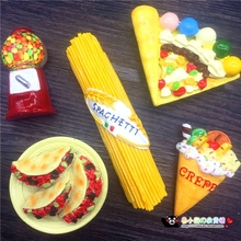 Lu Xiaoxiong 58 exports all kinds of food, Italy, Mexico ice cream, pizza, pie, fridge stickers(China)
