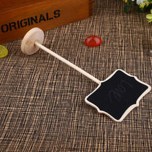 Grade A MINI Black CHALKBOARD STICK STAND PLACE HOLDER BRAND-NEW | WEDDING Christmas Party Decorations Baby Shower(China)