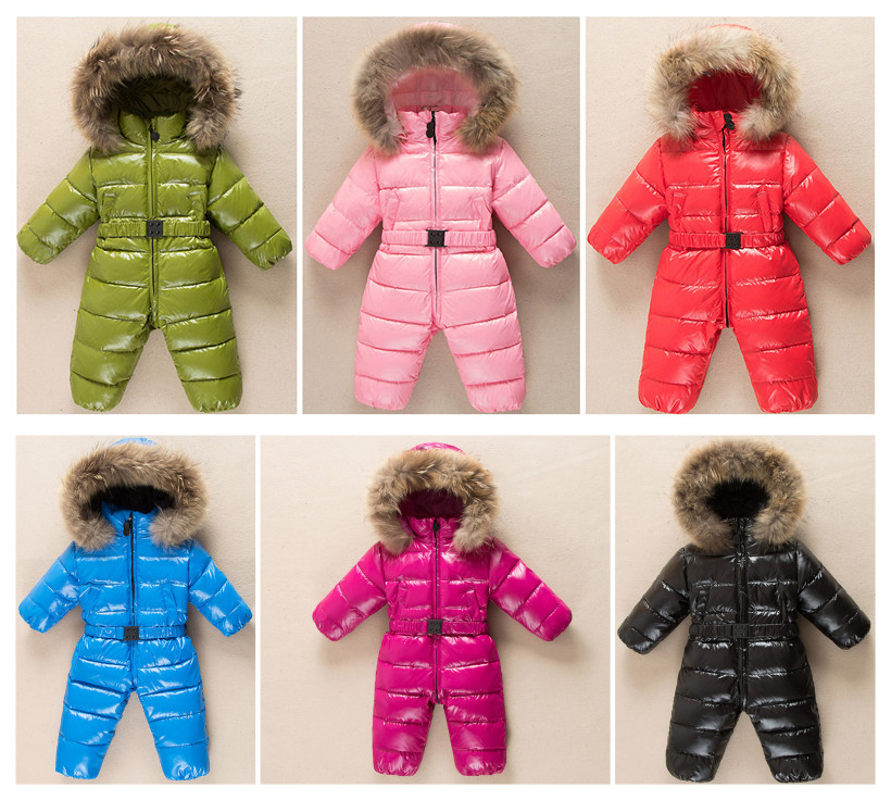 Children down baby Siamese Romper jacket climbing clothing for men and women, boys and girls out clothes thick warm fur collar<br><br>Aliexpress