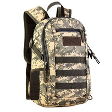 12L Mini Daypack Military MOLLE Backpack Rucksack Gear Tactical Assault Pack Student School Bag for Traveling Camping Trekking j