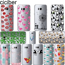 Mickey&Minnie kiss Lips pineapple unicorn Flamingo cactus panda Clear soft silicone cases cover for samsung galaxy s8 s8 plus