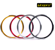 Litepro kpro 18'' rims 355x14 double wall folding bike BMX wheel rims for birdy tikit bike(China)
