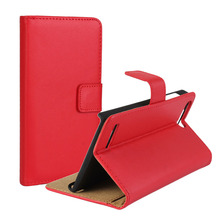 Luxury Genuine Leather Case For Huawei Ascend P7 Mini G6 For 4G G6 4G LTE G6-L11 Flip Wallet Stand Style Protect Shell Phone Bag
