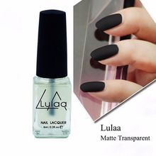 Amazing Super Matte Nail Polish Transparent Nails Art Gel Frosted Surface Oil Nail Polish 6 ML(China)
