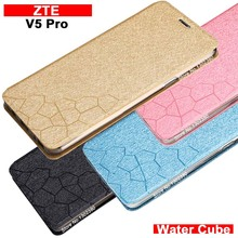 zte v5 pro case cover leather luxury water cube flip case for zte v5 pro cover case 4 style Amazing zte n939st phone case(China)