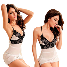 Buy Women Nightwear Summer Style Sexy Sleepwear Plus Size XL 2XL 5XL 6XL Sexy Lingerie Lady Underwear Sleeping Night Dress+G-string