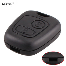 KEYYOU 2 Button without Blade Remote Car Key Case Shell Fob For Citroen C1 C2 C3 Pluriel C4 C5 C8 Xsara Picasso Cover