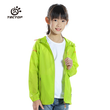 Tectop spring and summer child clothing Kids casual breathable outdoor Skin jacket outerwear(China)