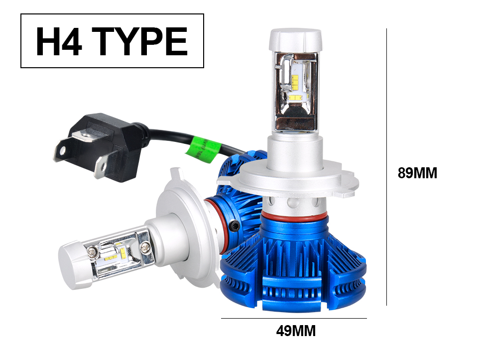 H4 Led CSP Chips H7 LED Headlights Auto-styling Led Car Bulb H1 H11 Fog Lamp Fanless (14)