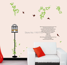 LP New 2016 adesivo de parede Home Decor Bird Wall Stickers Quotes and Sayings Home Decoration Wall Decals Quotes