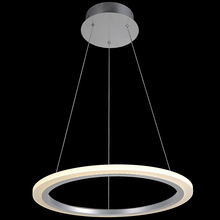 "VALLKIN 18W Newest Design Modern LED Pendant Lights for Dining Room White Acrylic LED Pendant Lamp Contemporary D19.69"" CE FCC"
