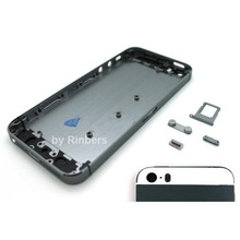 Space GREY/GRAY&BLACK Back Glass Cover Housing Midframe Bezel Housing Replacement for iPhone 5 Free Shipping