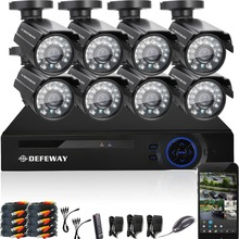DEFEWAY 1080N HDMI DVR 1200TVL 720P HD Outdoor Home Security Camera System 8CH  Video Surveillance DVR AHD CCTV Kit seguridad