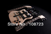 DIY SG Electric Double Neck Guitar Kit | Bolt-On | Solid Mahogany Body & Neck 12/6(China)