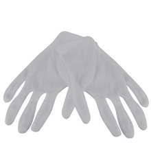 12 Pairs White Cotton Work Gloves Hand Protection Antistatic Nonslip Industrial Gloves for Electronic Testing Computer(China)