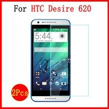 2 Pcs tempered glass HTC Desire 620 G 620G / 820 Mini 5.0inches screen protector cover htc desire 620G dual case