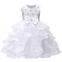 SJR-351 Hot sale dress for girls 3-9 years dresses with bow tie festive princess dress for holiday children's clothing 6 colors(China)