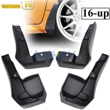 Set Molded Mud Flaps For Honda Civic Sedan 2016 2017 Mudflaps Splash Guards Front Rear Mud Flap Mudguards Fender(China)