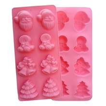 Soft Christmas Silicone Mold For Soap Silicone Mold Fondant Cake Decorating Tools Baking Silicone Soap Molds Soap Mold 3044