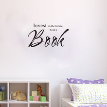 Invest In A The Future Read A Book wall decals vinyl stickers home decor childrens room decoration wall art murals