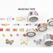 Beautiful Flower Diamond Japenese Washi Paper Masking Tapes Decorative Adhesive Tape Day Planner Notebook Diy Accessory Stickers