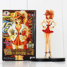 17cm Anime cartoon One Piece Nami Figure Grandline Lady 15th Anniversary Sexy PVC Action Figure Model Toys Doll kids gift(China)