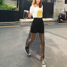 Fashion Summer Women Skirt Sexy Transparent Long Skirt Ladies Solid NETTING Mesh Skirts Stylish Jupe Skirts(China)