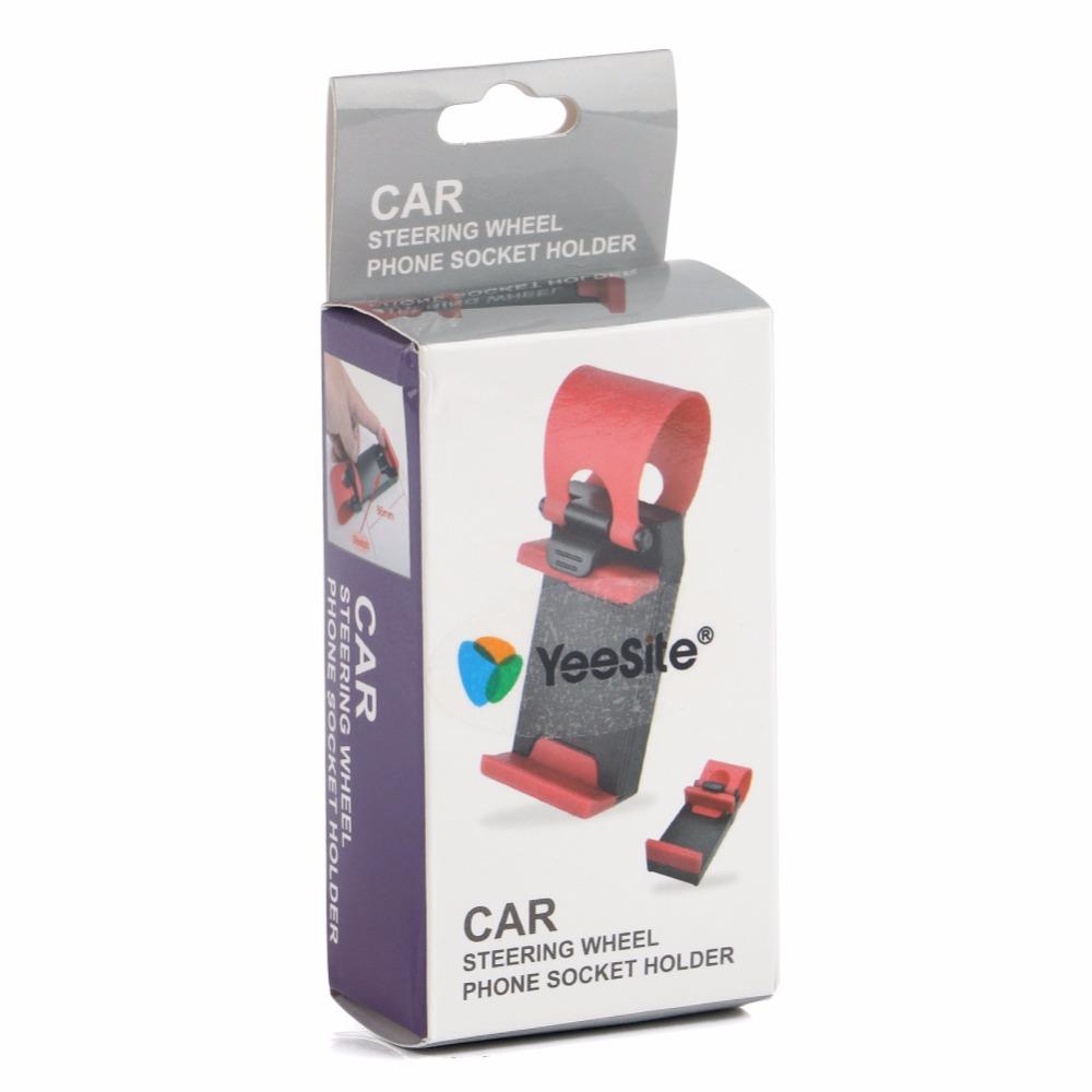 YeeSite Universal Car Steering Wheel Clip Mount Holder for iPhone 8 7 7Plus 6 6s Samsung Xiaomi Huawei Mobile Phone GPS 8