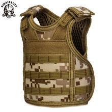 SINAIRSOFT Tactical Premium Beer Military Molle Mini Miniature Hunting Vests Beverage Cooler adjustable shoulder straps LY2074(China)