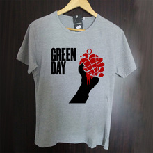 Green Day Throwing bombs in combat aircraft pattern high quality t shirt brand new(China)