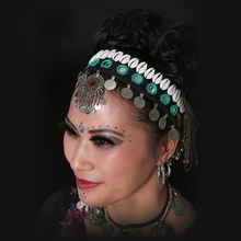 New Arrival 2016 ATS Tribal Belly Dance Accessories Vintage National Jewelry Women Headpiece Gypsy Head Chains Dance Headbands