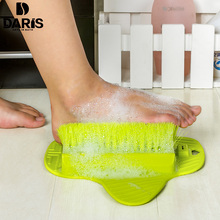 SDARISB Plastic Feet Cleaning Brush Stronger Easy Feet Foot Massager Brush Cleaner Sucker Creative Designer Brush