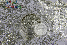 HB216-122 Mix size Champagne Gold Colors Hexagon shape Hex Glitter for Nail art and DIY supplies1pack=50g(China)