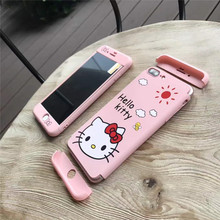 Hello kitty case For iphone 7 plus Cartoon KT 360 full body front back protect cover For iPhone 6 6splus matte case+ screen Flim(China)