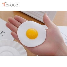TOFOCO 9cm Funny Soft PU Anti Stress Egg Squeeze Squishy Toy Doll Hand Pinch Toys Slow Rising Novelty Practical Jokes Prank(China)
