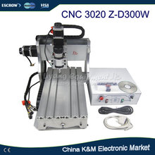 Hot CNC 3020 Z-D300 Engraver Machine 3020Z-D300 drilling router wood pcb cutting machine(China)