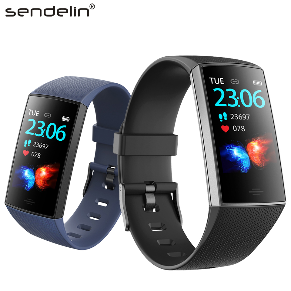 """Smart wristband IPS 1.14"""" large screen fitness bracelet multi-sports mode call reminder for Android men/women fashion smartwatch"""