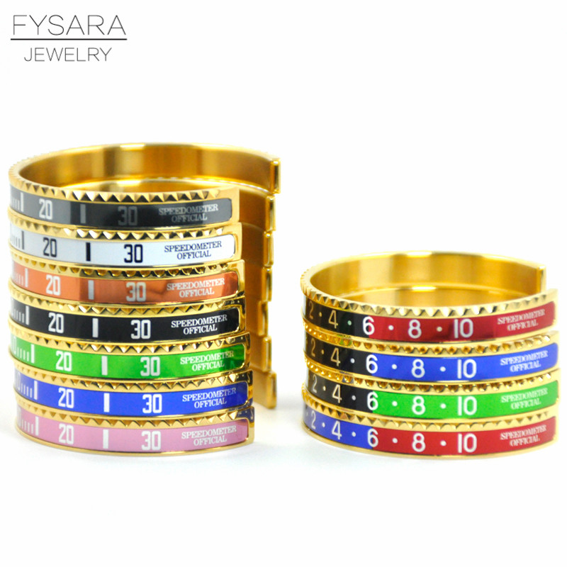 Speedometer Stainless Steel Fashion Bracelets 10