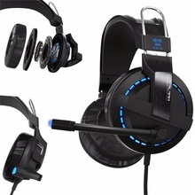 2017 New 1.8m E-3LUE Cobra H937 Blue Light Gaming Headsets with Microphone Razer Game  for Gaming MSN Skype