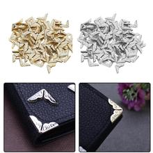 Buy 100pcs Fine side Book Tone Scrapbooking Albums Menus Folders Corner Protectors Sliver Gold Card File Menu Metal Corners Book for $1.29 in AliExpress store