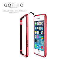 China Red for iPhone 6 6S Nillkin Gothic Series Metal Bumper Border Case for iPhone 6 6S Hippocampus Buckle Protective Frame