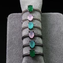 Milky green oval  Ring  Cubic Zirconia fashion Jewelry For Women Love  Gift
